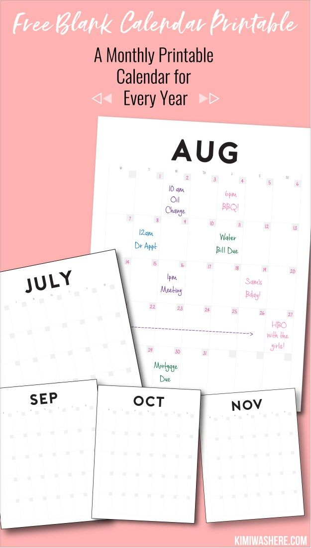 Every Year Calendar : Best blank calendar ideas on pinterest
