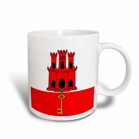 3dRose Gibraltar Flag, Ceramic Mug, 15-ounce