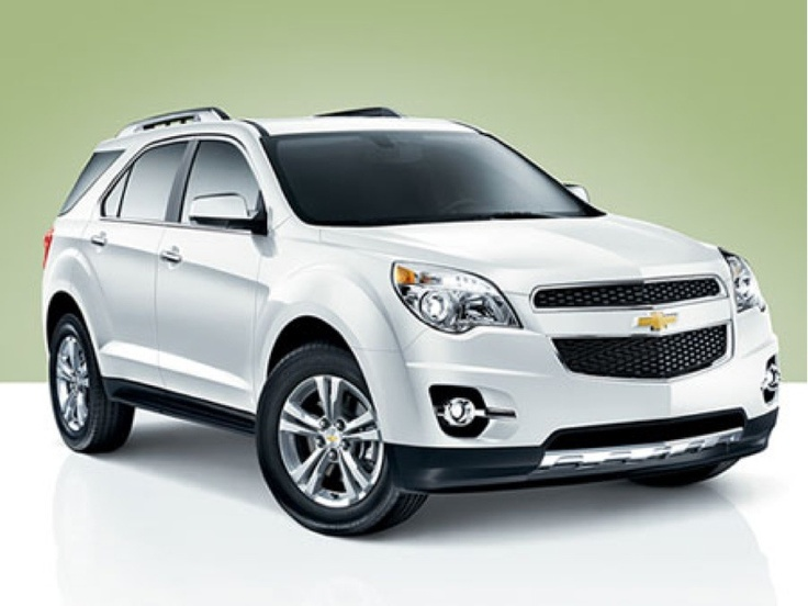 White Chevy Equinox