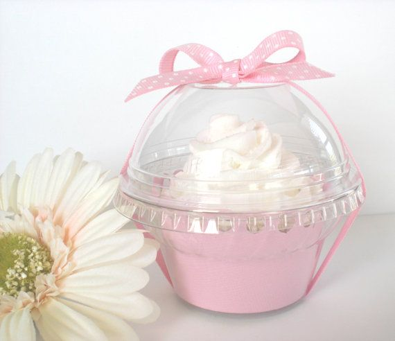 Set of 24 Clear Plastic Cupcake Favor Containers by FavorWrap, $11.00
