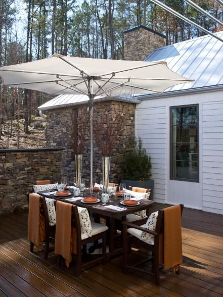 Intimate or open, these outdoor dining rooms always feature the best seat in (or outside) the house.
