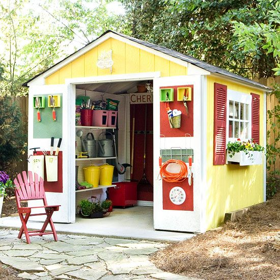 Before and after two sheds multiple storage solutions for Garden storage solutions