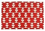 Jasper Dhurrie Rug 2x3 for in front of my bookcase: Cooker Patterns, Poppies Red, Red Carpets, Interiors Design, Graphics Red, Cotton Graphics, Red Patterns, Graphics Rugs, Red Hot