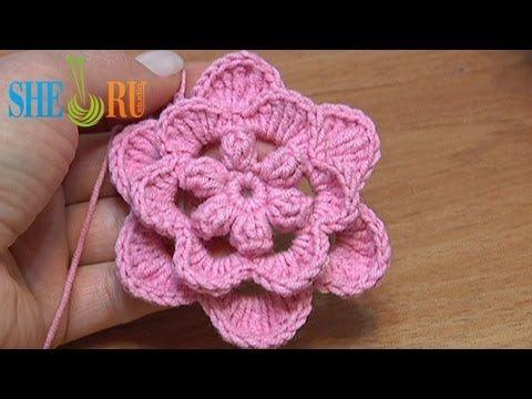 How To Crochet Flowers Thick Petals Tutorial 44 : 17 Best images about Crochet Flower Tutorials on Pinterest ...