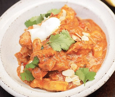 """I love Indian, and hotter than most...this is Tikka Masala, and not just any old dish. This is from a recipe out of Jamie Oliver's """"Ministry of Cook"""" which the wife made from scratch - divine!! I recommend the book to anyone, novice or pro..."""