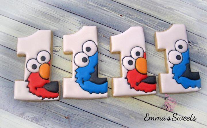Sesame Street birthday cookies