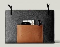 macbook & ipad felt/leather case