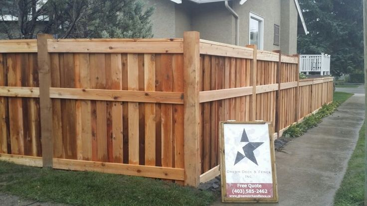 Custom Cedar Fence 6x6 fence boards overlapped outside view.......
