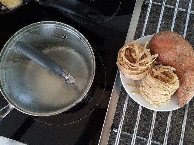 meal prep pasta sweet potato