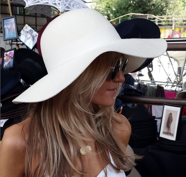 Ecru luxe floppy hat with tonal grosgrain ribbon. Available on our website #hat #mudulondon: