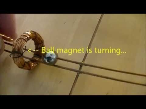 Ball magnet on copper rail (Part II) - YouTube