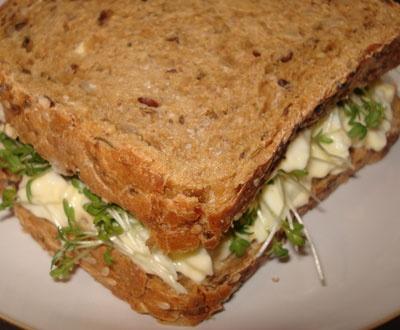 egg, mayonnaise & cress sandwich