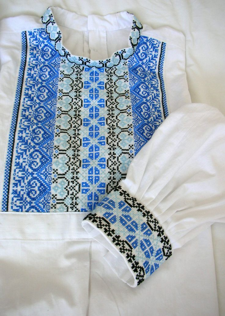 Slovak men folk shirt from region Myjava