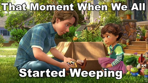 EVERY TIME.: Toy Story 3, Truth, Movies, So True, Toystory3, Baby, Disney, True Stories, Started Weeping