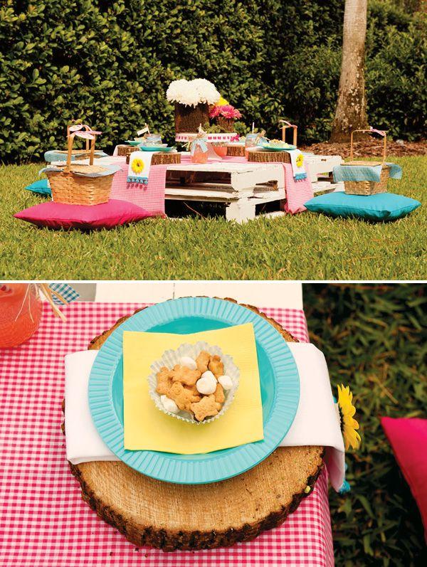 Backyard Teddy Bear Picnic Party Girls Birthday Picnic