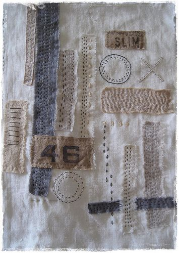 fabric collage on Flickr by peregrine blue