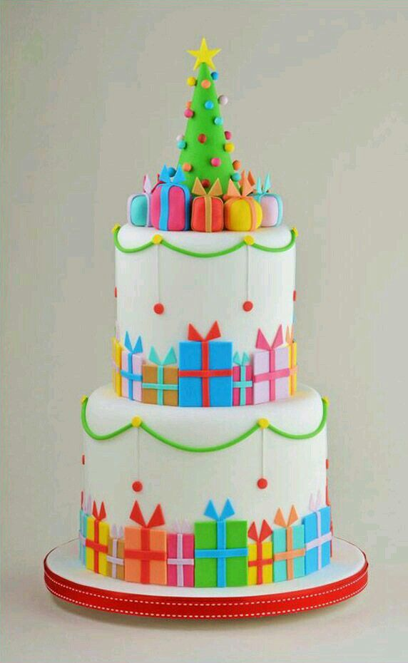 Cake Decorating Making Trees : Christmas Cake Decorating Trees, Pretty birthday cakes ...