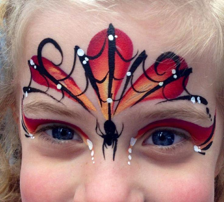 Les 167 meilleures images du tableau facepaint enfants sur - Maquillage toile d araignee visage ...