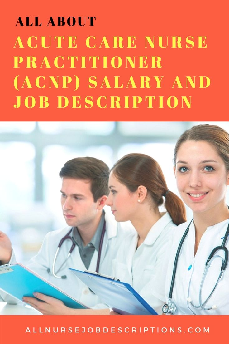 Acute Care Nurse Practitioner Acnp Salary And Job Description Acute Care Nurse Practitioner Nurse Practitioner Job Description Acute Care