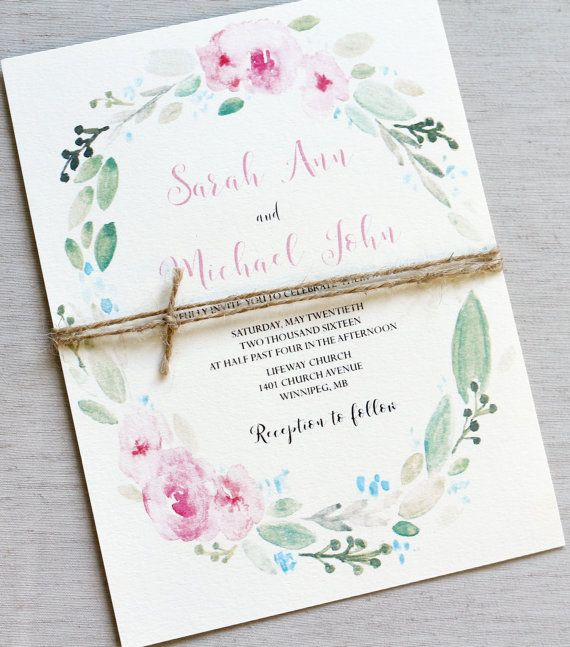 13 best Watercolor Flower Wedding Invitations images on Pinterest