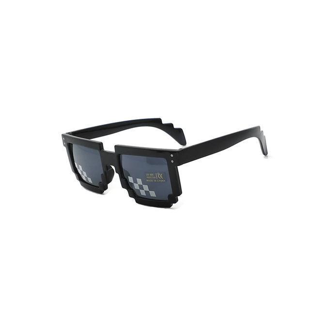 Pixel Glasses Deal with It Sunglasses Sun Points for Women Men Oculos de Sol Masculinos Femininos 100% Anti UV400