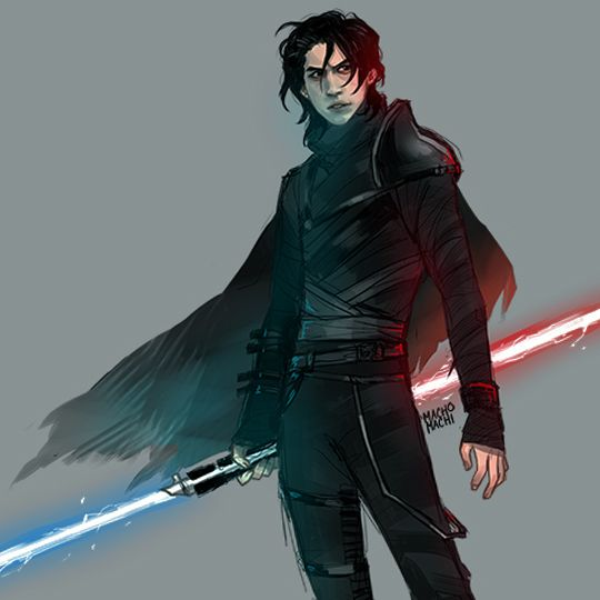 ♠︎★ ||ō|| ★♠︎, machomachi:   how cool are kylo's early concepts...
