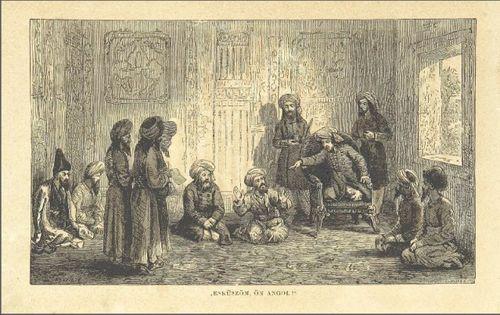 'I swear you are an Englishman!' In: Ármin Vámbéry, Közép-ázsiai utazás… (Pest, 1865). 10077.e.24. and digitised version - See more at: http://britishlibrary.typepad.co.uk/european/#sthash.e1wAM9ho.dpuf