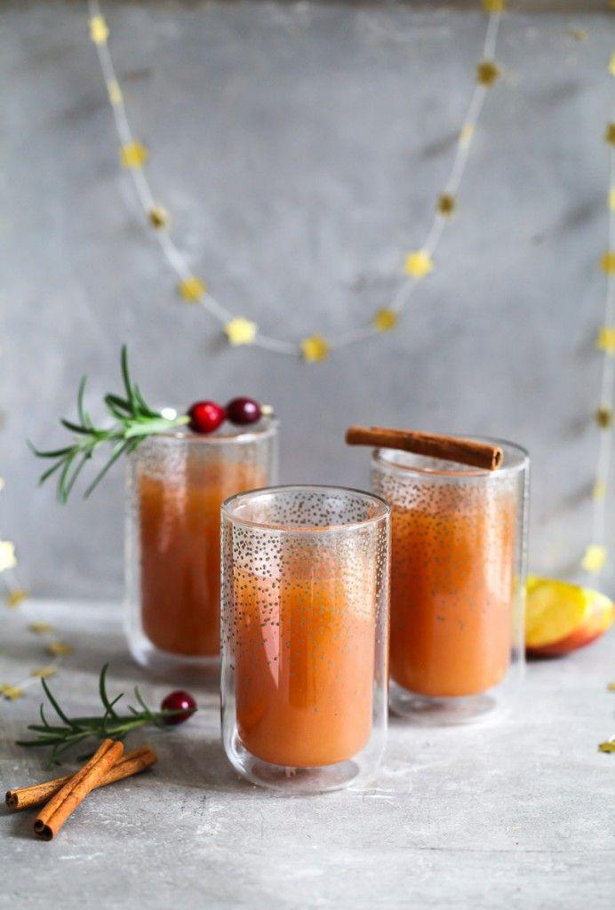 Apfelpunsch Rezept (ohne Alkohol) - Wintergetränk - Zuckerzimtundliebe - homemade mulled apple cider recipe