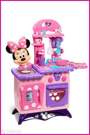 New Minnie Mouse kitchen. Bailey wants to sell her Fisher Price kitchen to buy this one! LOL