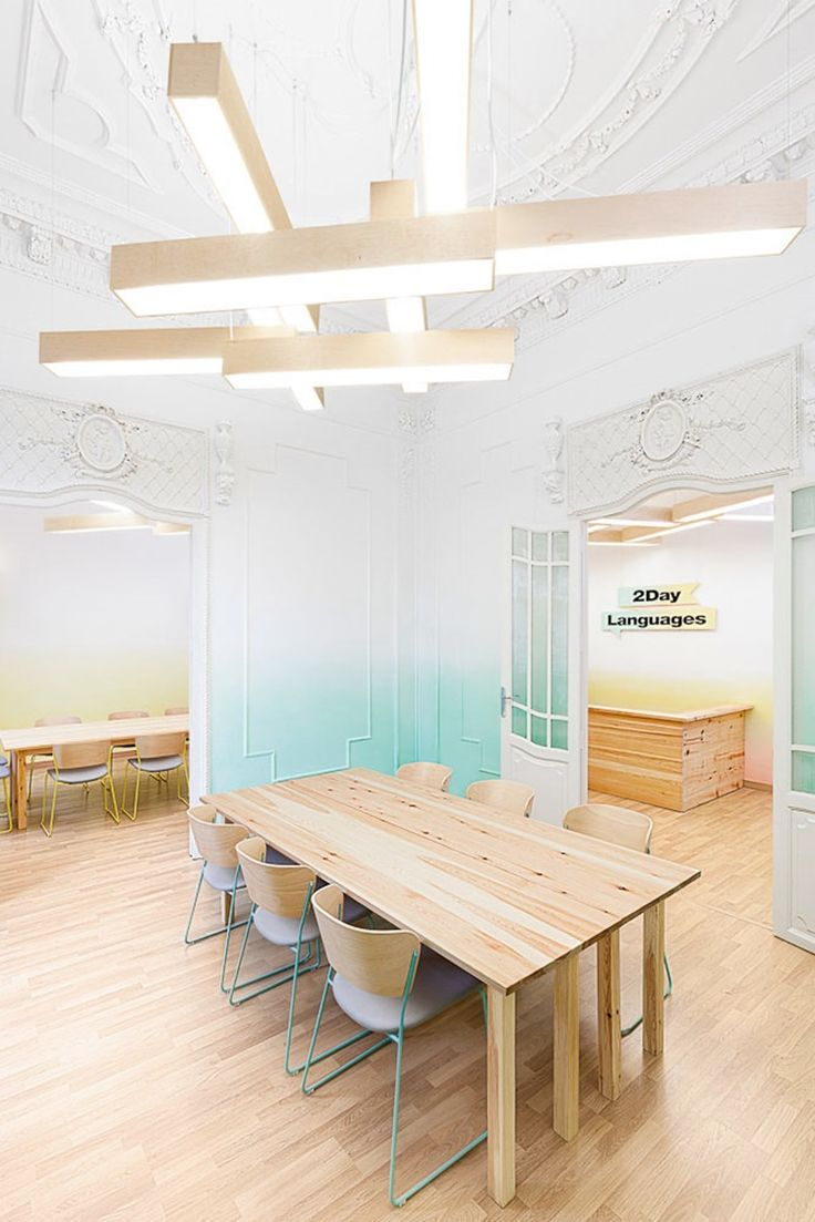 Студия Masquespacio завершила очередной дизайн-проект для 2Day Languages, языковой школы в Валенсии, Испания