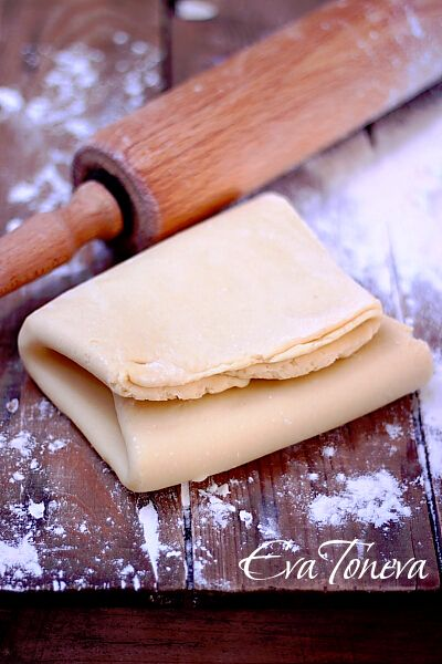 Homemade puff pastry - step by step
