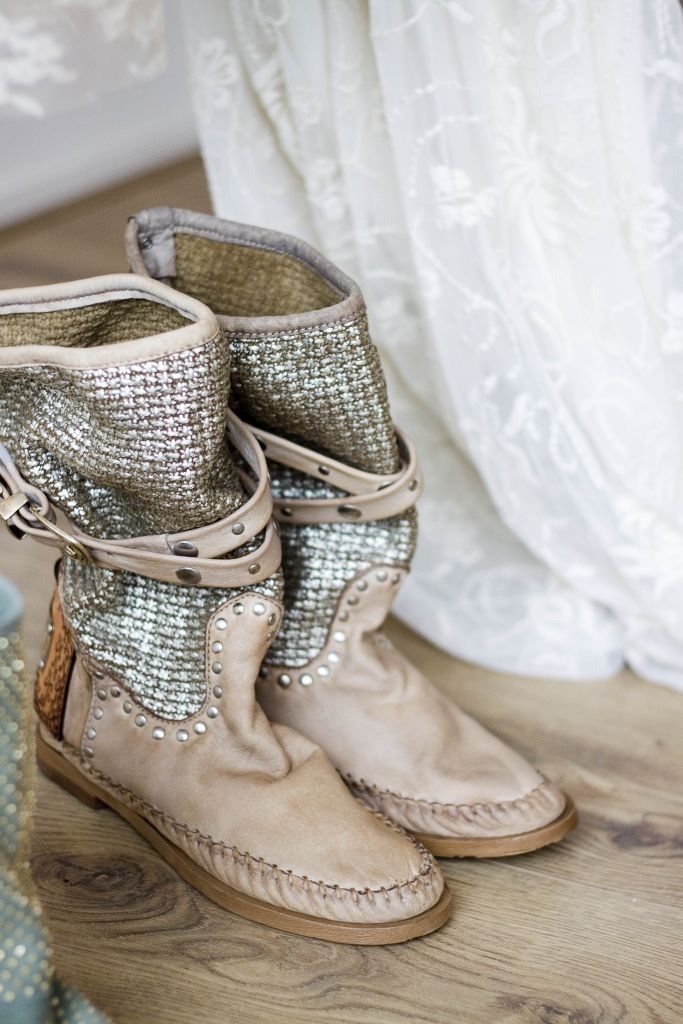 Edgy, glam, boho. Get in my closet! Boots by Karma of Charme.