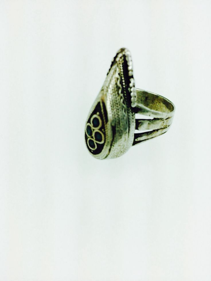 Vintage silver tribal ring