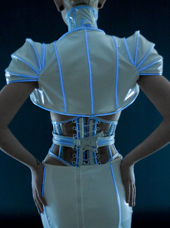 Beautifully executed EL Wire garments by Artifice Clothing