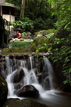 Massage over a waterfall?  Yes, please! Koro Sun Rainforest Spa, Fiji.
