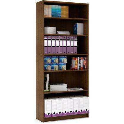 Tall Deep Bookcase - Walnut Effect