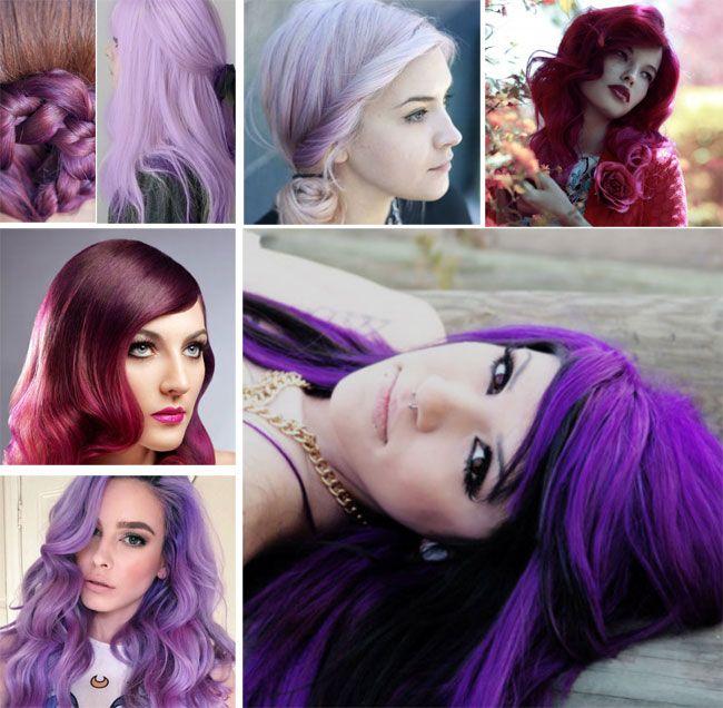 Capelli 2016: Colori glamour dal rosso broux al viola FOTO