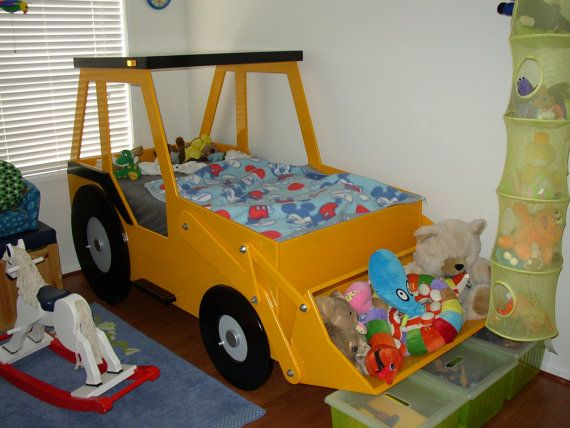 Front End Loader Twin Size Bed Woodworking Plan