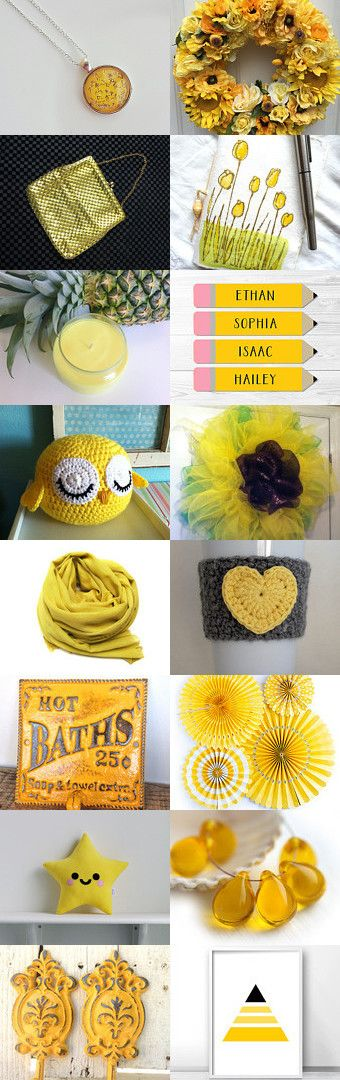 Yellow Love! by Erinn LaMattery on Etsy--Pinned+with+TreasuryPin.com