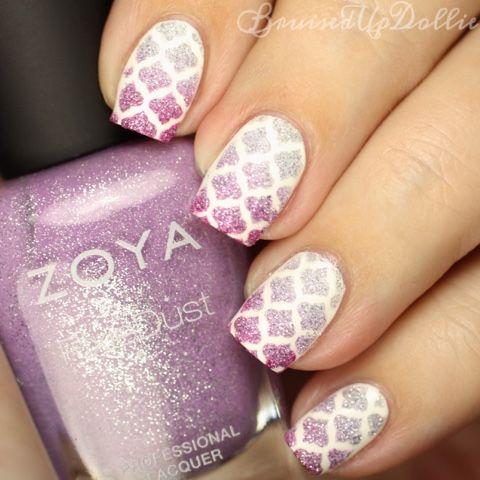 BruisedUpDollie Nails: Zoya pixie dust nail art