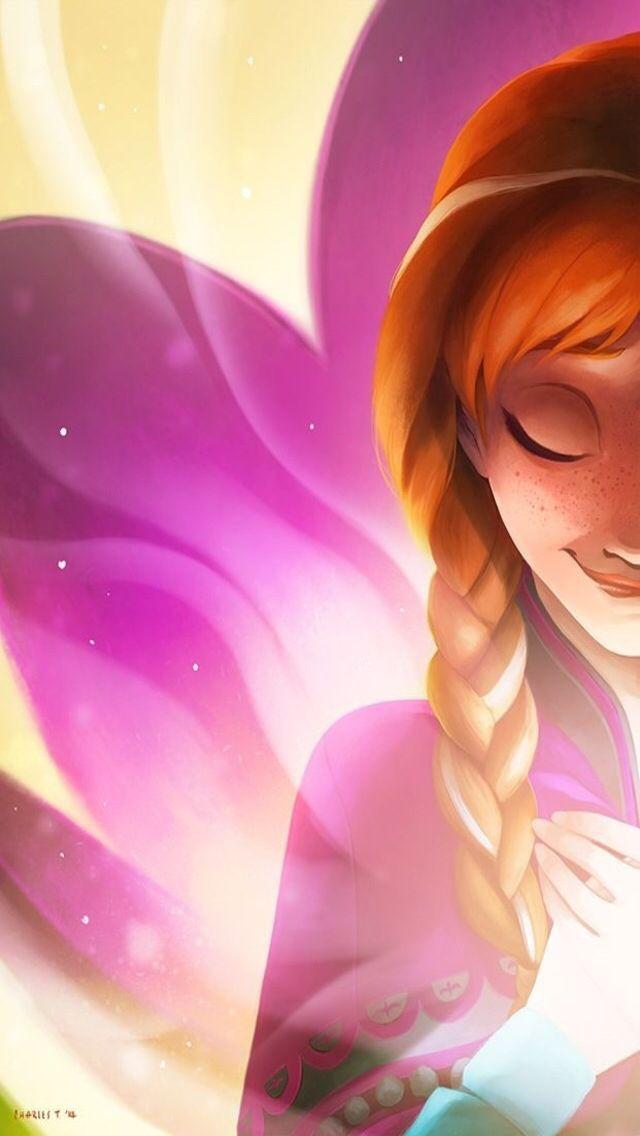 Frozen Anna ★ Download more Disney iPhone Wallpapers at @prettywallpaper  ♡♔Pinterest: EnchantedInPink ♡♔