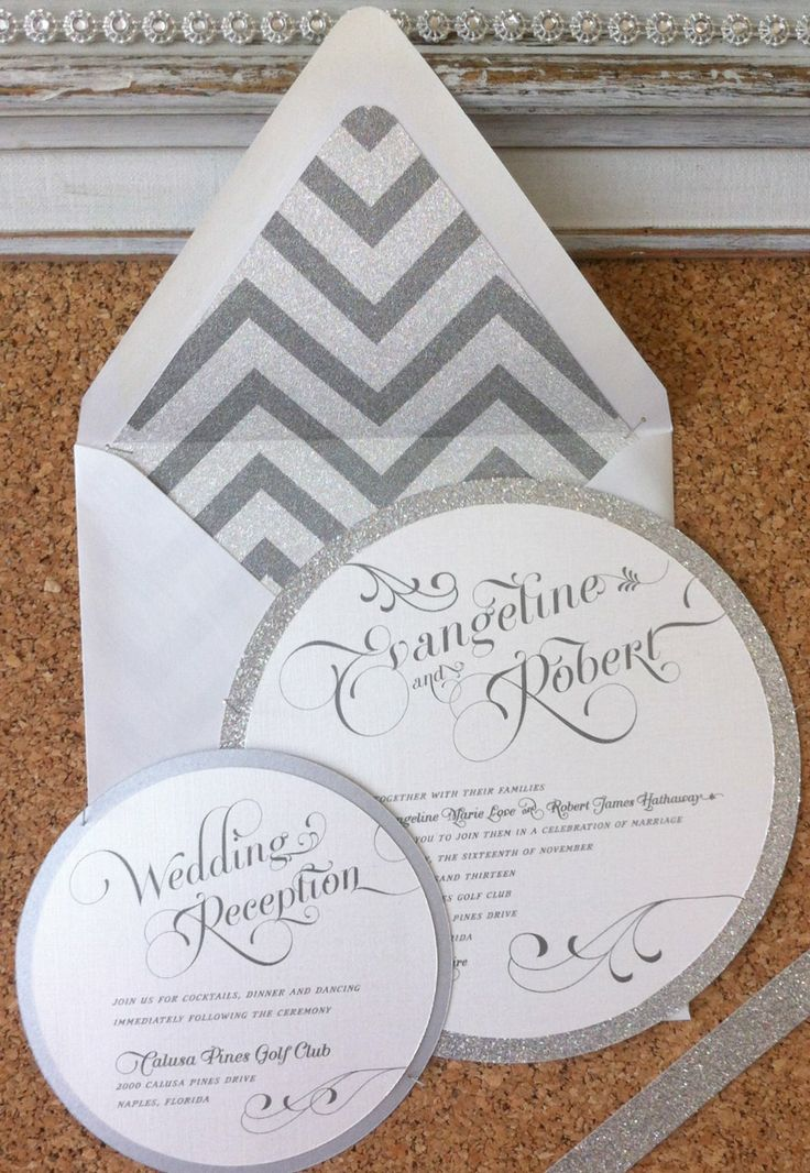 Round Wedding Invitation By Er Designs The Perfect Match Concierge Naples