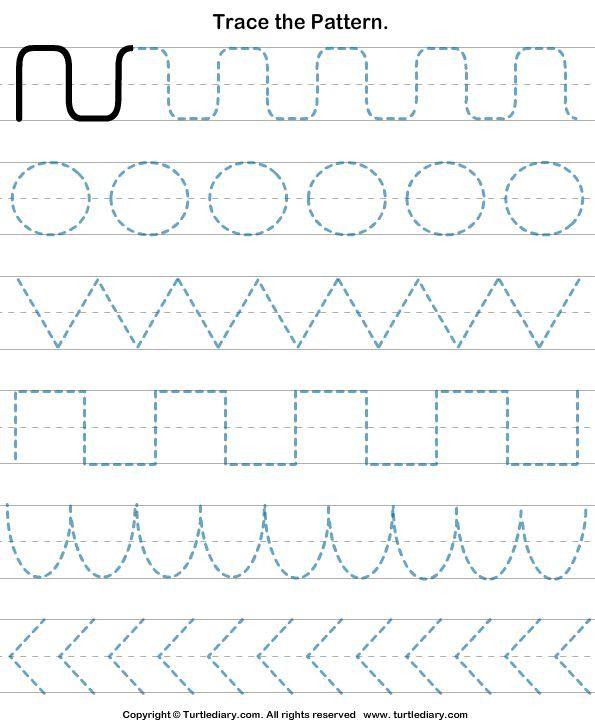 Pre Handwriting Strokes Worksheets In 2020 Tracing Worksheets Preschool Preschool Tracing Pattern Worksheet