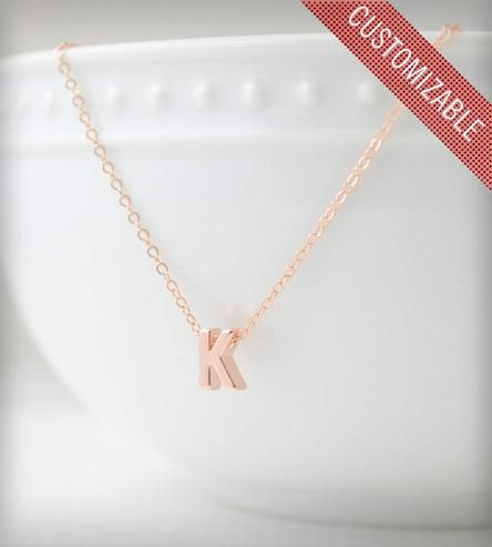 Initial Necklace - Rose Gold by Olive Yew Jewels on Scoutmob Shoppe