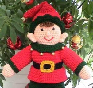 Amigurumi Pointed Ears : Santas Elf Doll CROCHET PATTERN Ernie Elf Elf doll ...