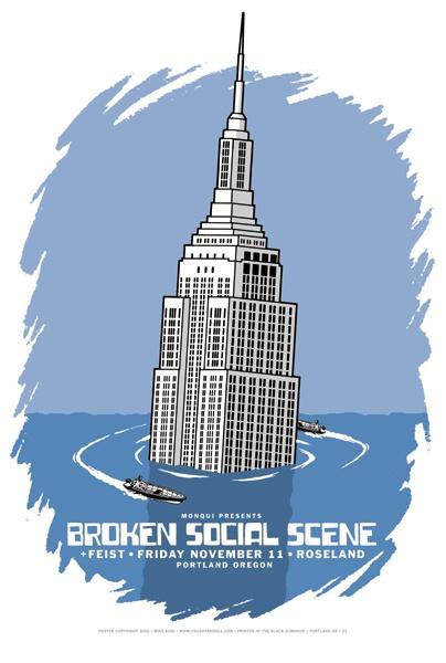 Broken Social Scene & Feist - gig poster