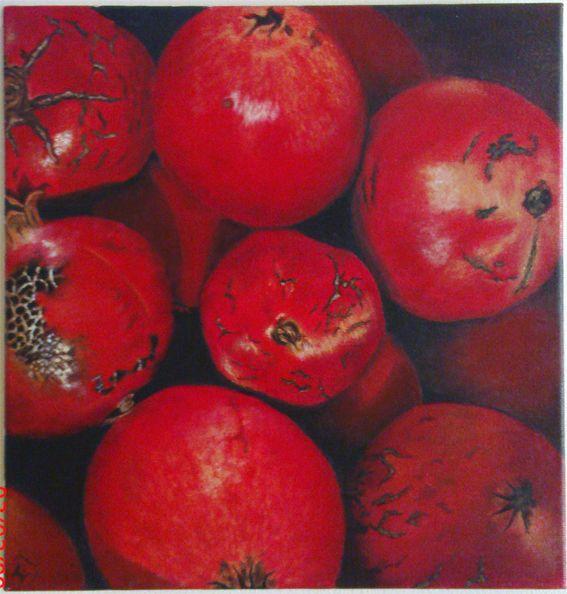 pomegranates 30X30
