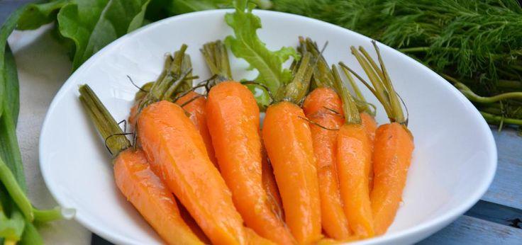 Karmelizowane młode marchewki - main