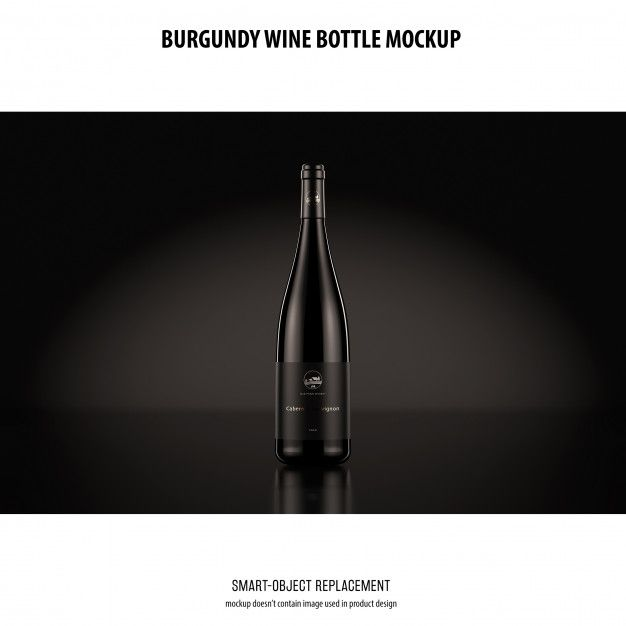 Download Download Burgundy Wine Bottle Mockup For Free Bottle Mockup Wine Bottle Burgundy Wine
