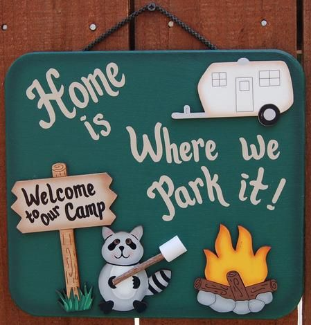 Camping Sign - Decoration...I should get this for my parents